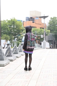 7. girl street hoodie back